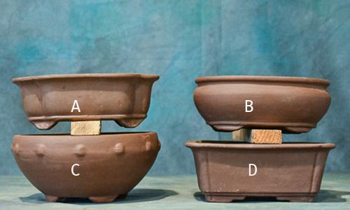 unglazed pots