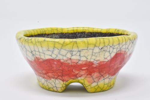 yellow orange pot