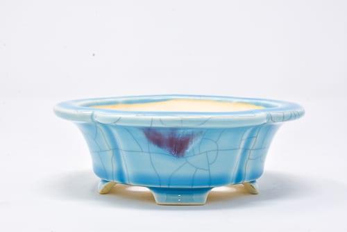 light blue pot