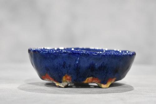 blue drippy pot
