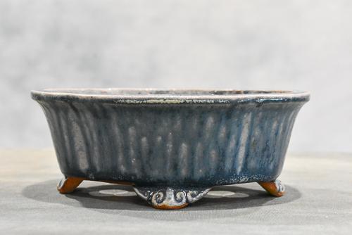 blue grey pot